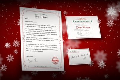 Santa Certificate and Letter