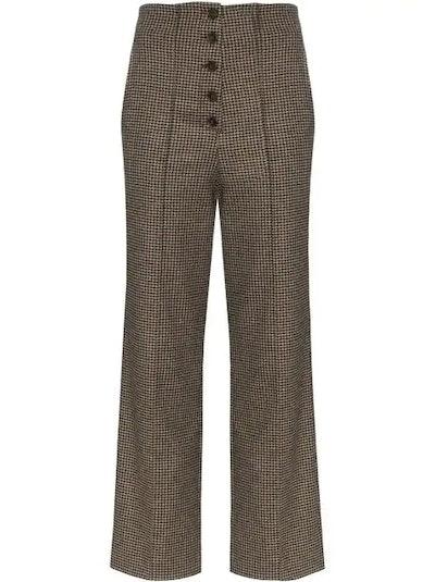 Houndstooth Tweed Pants