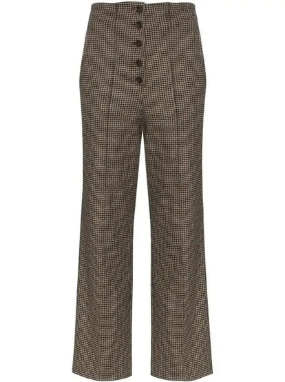 Houndstooth Tweed Pants