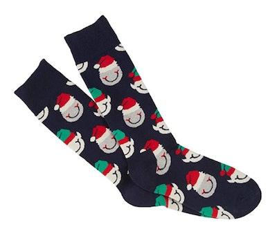 Happy Socks Unisex Santa's Helper Combed Cotton Socks