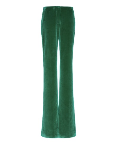 Straight Leg Velvet Cotton Pants