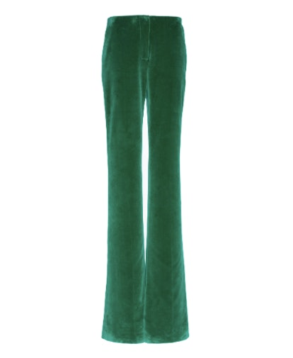 Straight Leg Velvet Cotton Pants
