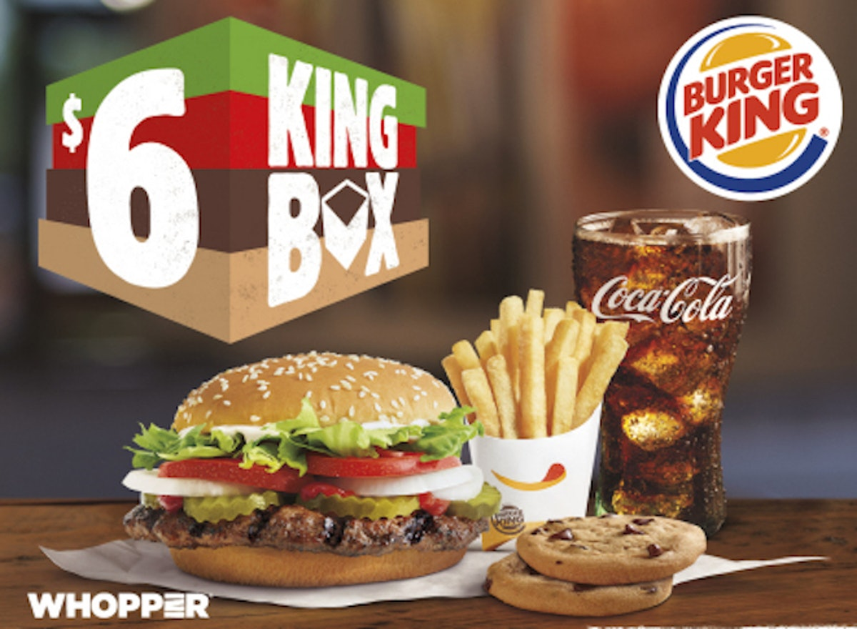 Burger King's $6 King Box Is A Meal Deal To Treat Yourself On A Budget