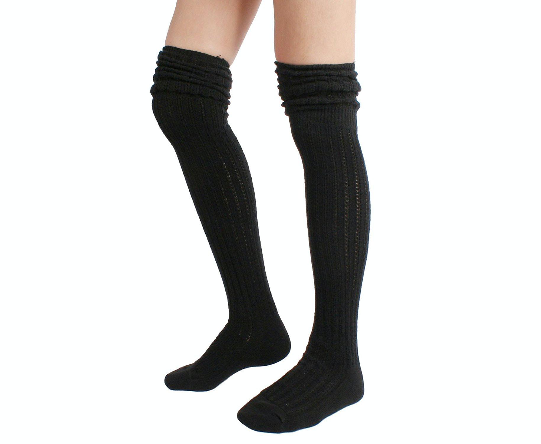 Bargian Ladies CREAM KNEE HIGH Socks Wool Blend Walking