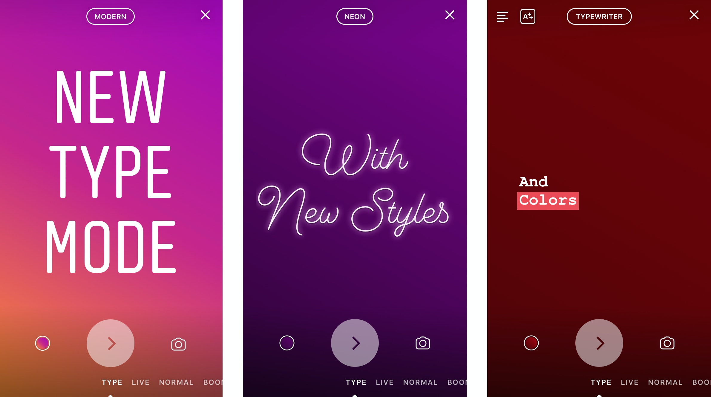 how to change your instagram story font with type mode
