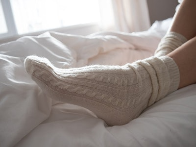 Hours&Hours Cashmere Cable-Knit Bed Sock