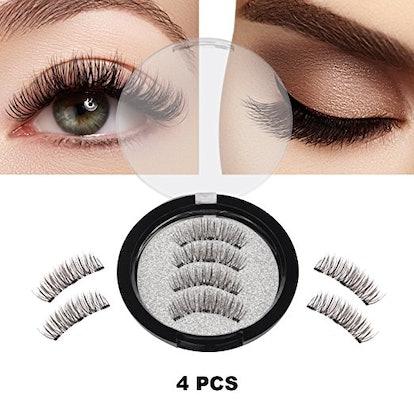 Magnetic False Eyelashes, 4 Pieces 3D