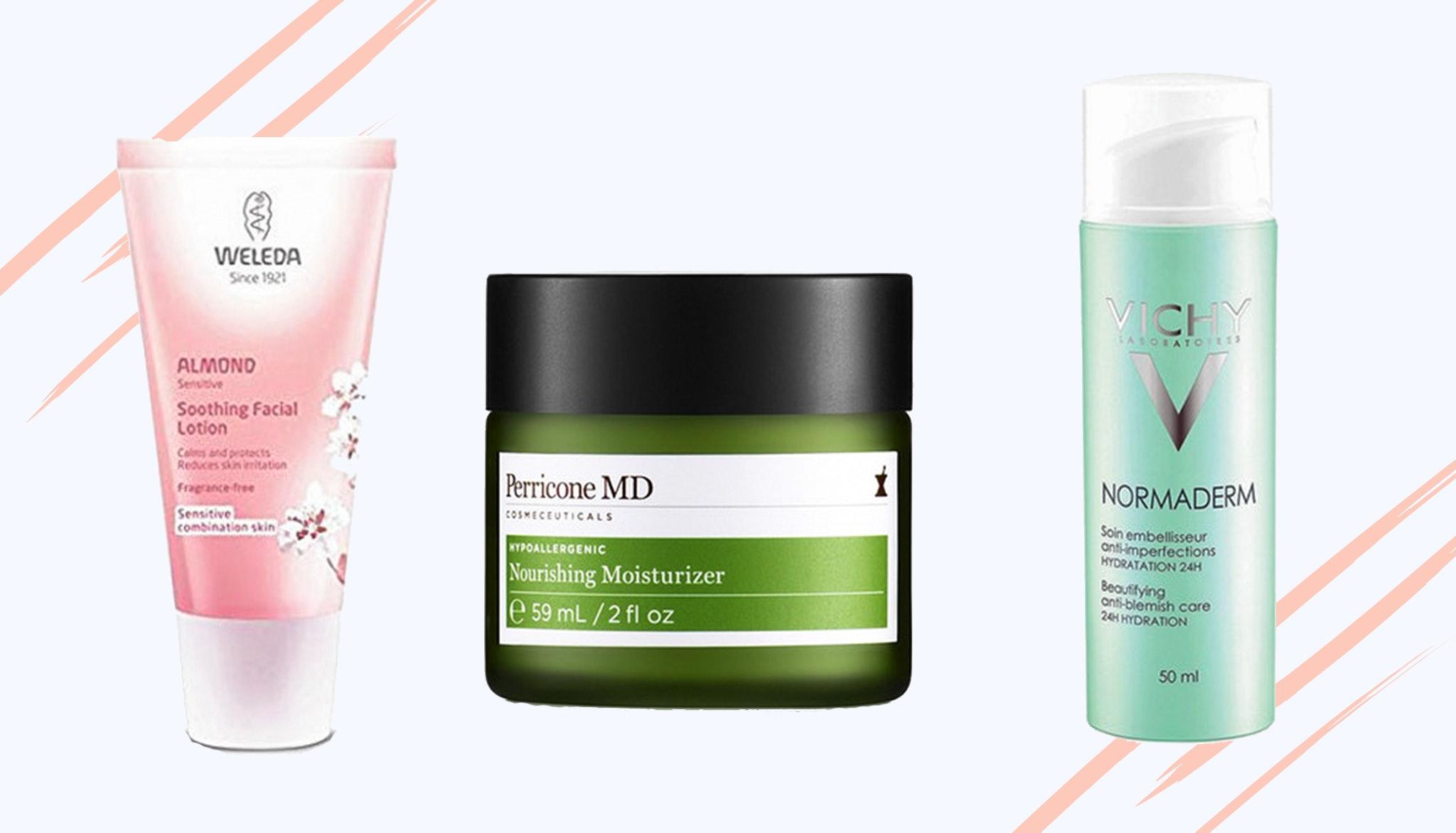 Hypoallergenic moisturizing unscented facial cream