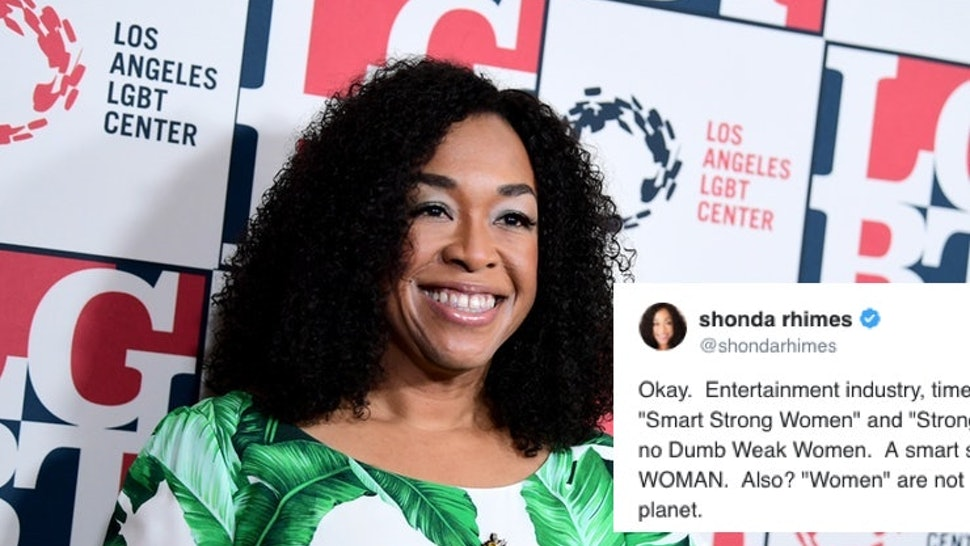 Shonda Rhimes Tweet About Strong Female Characters Will Make You