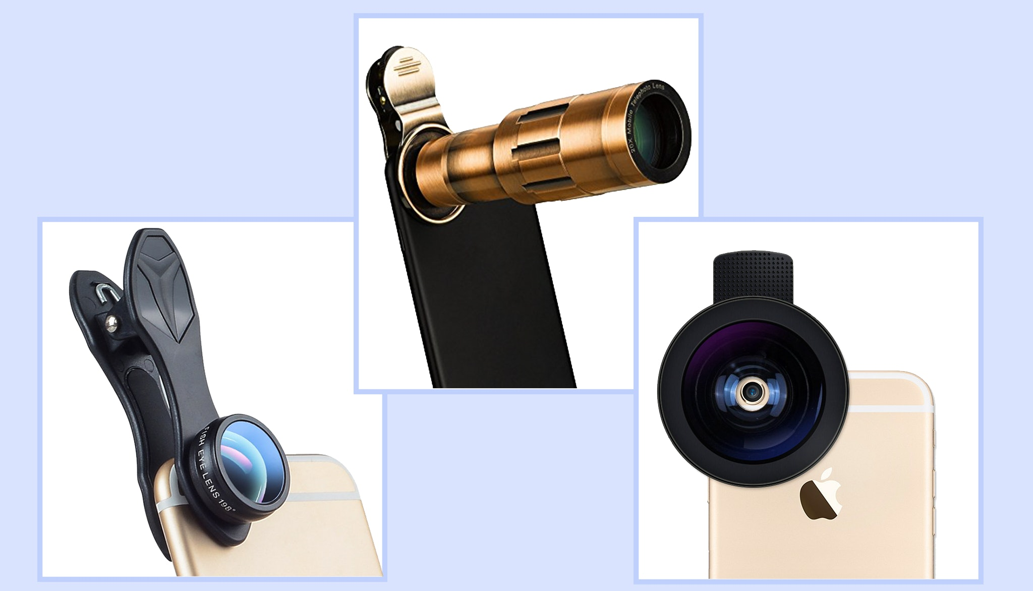Zoom phone telephoto camera lens telescope bundled with