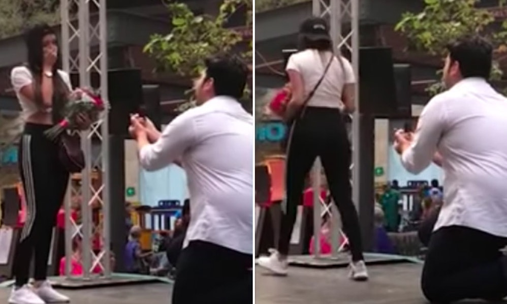 This Video Of A Girl Rejecting Her Boyfriends Public Proposal Is So
