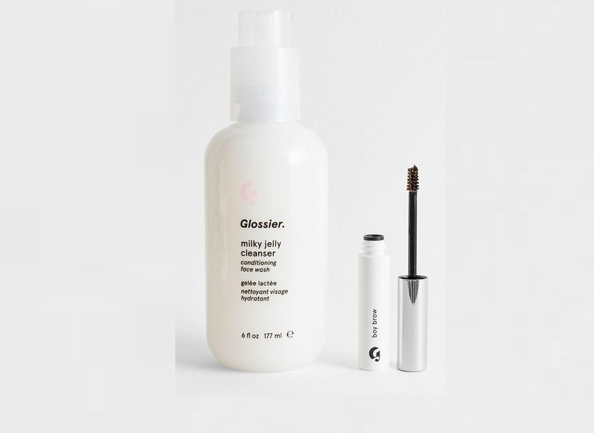 Glossier's Milky Jelly Cleanser + Boy Brow Duo Will Save You Cash On The Brand's Two Best Sellers
