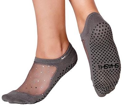 Shashi Star Glitter Mesh Non-Slip Sock