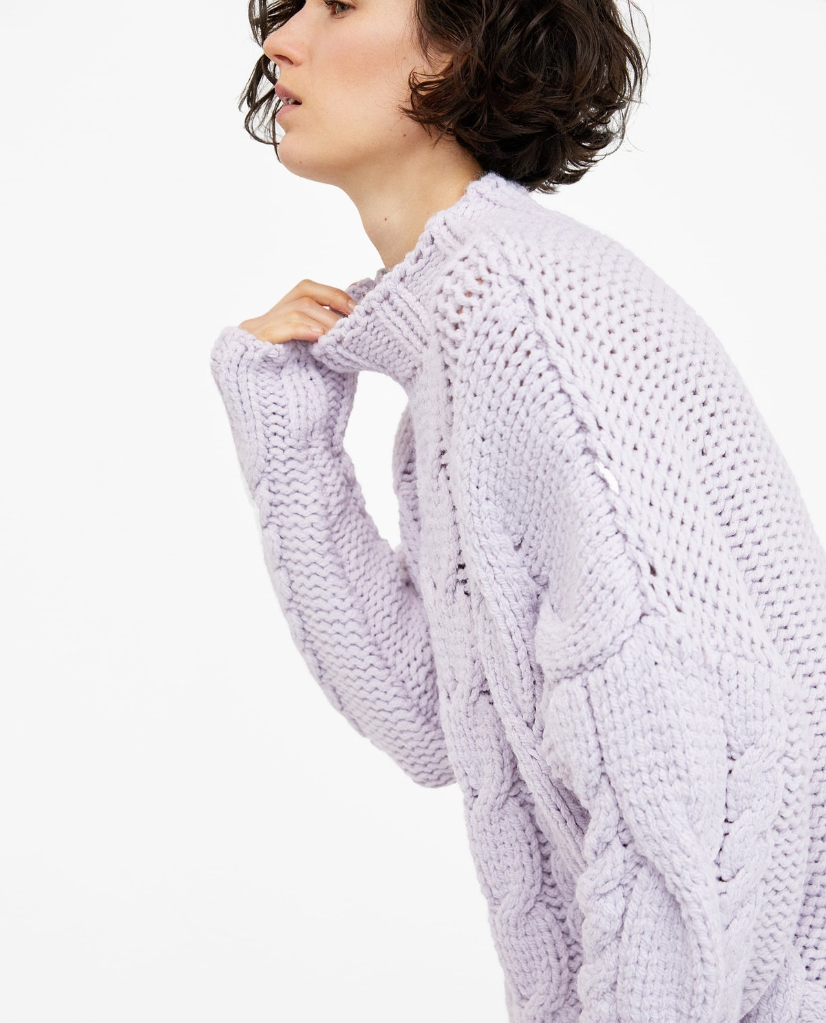 Cable-Knit Sweater, $49, Zara