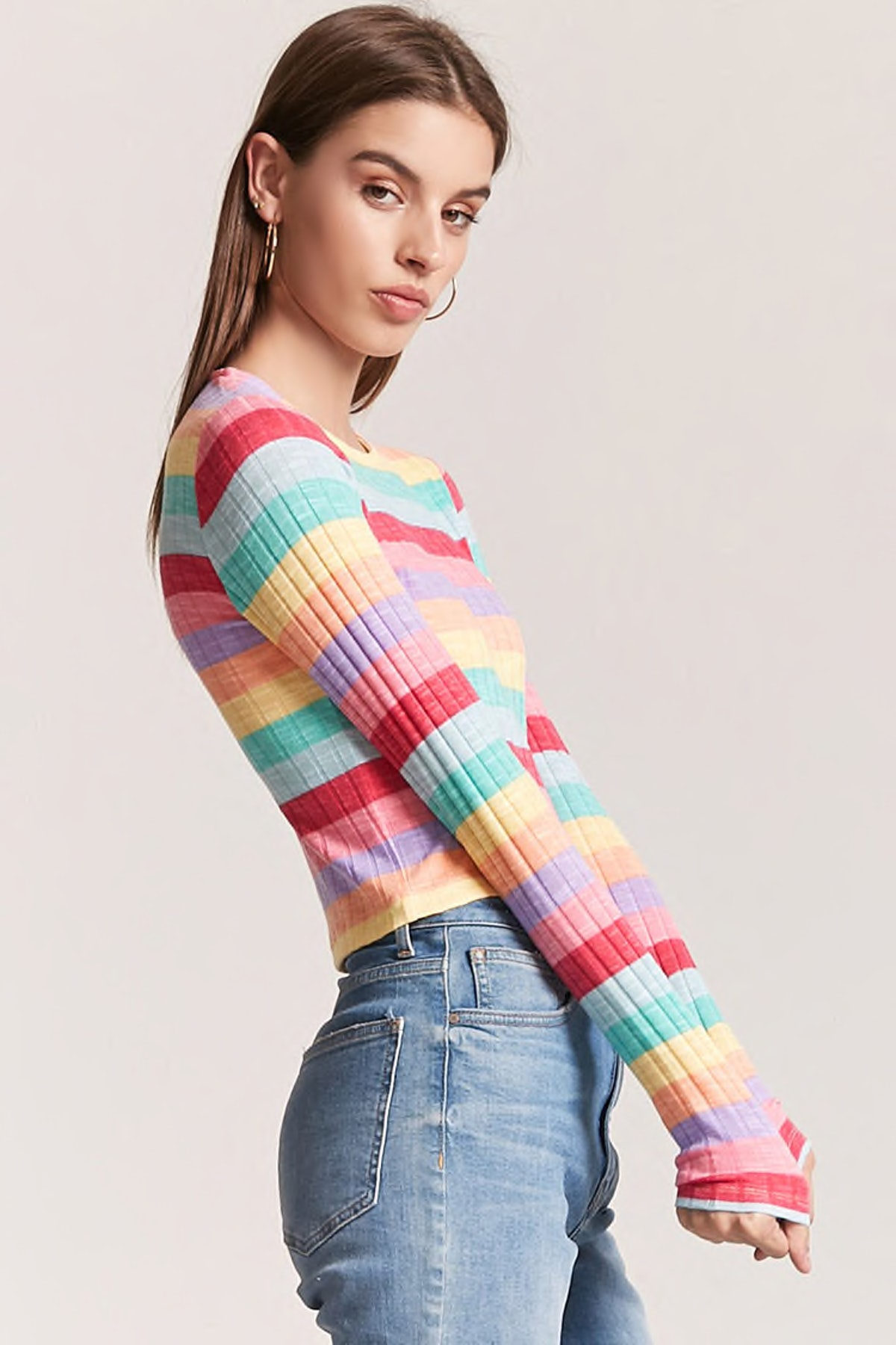 Striped Crop Top, $13, Forever 21