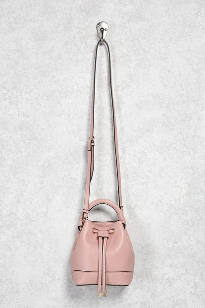 Faux Leather Mini Bucket Bag, $16, Forever 21