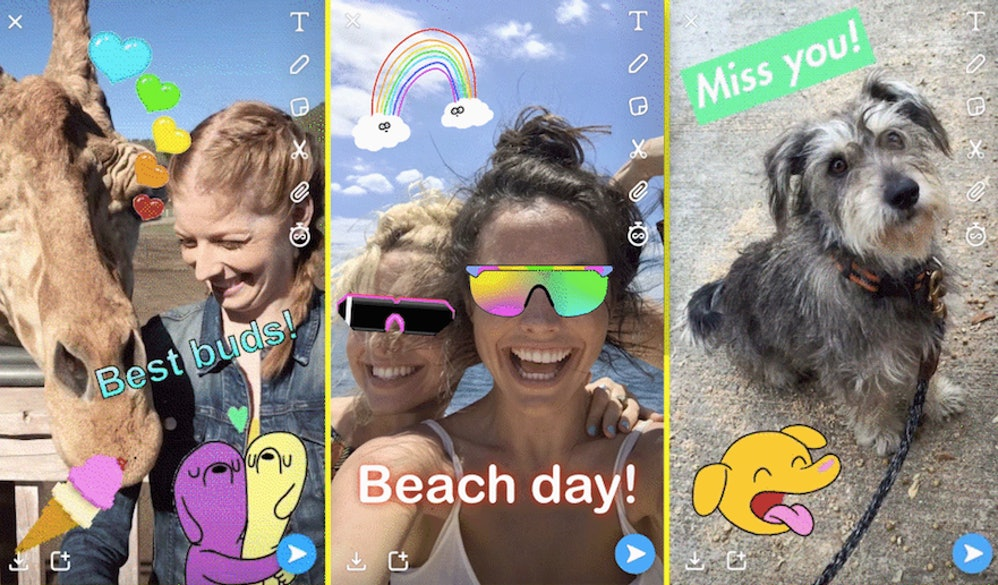 How to add gif stickers to your snapchat for a better looking story