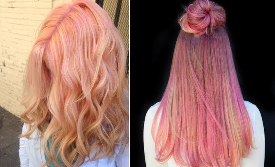 Photos Of Pink Lemonade Hair Prove Instagrams Coolest Color Trend