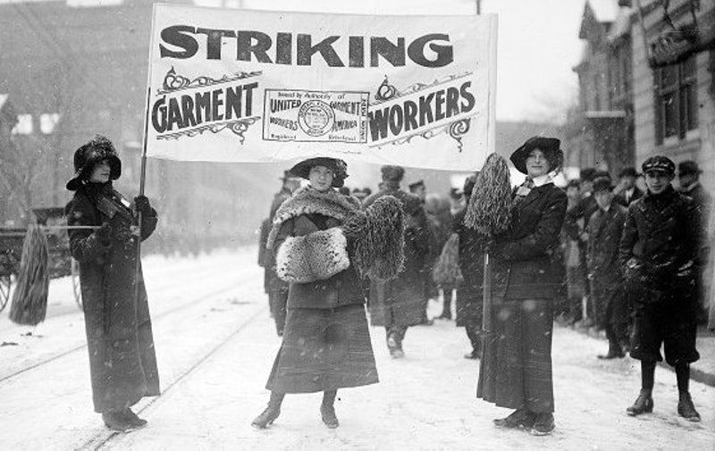 Striking female garment workers and labor organizers inspired what later became Women's History Month.