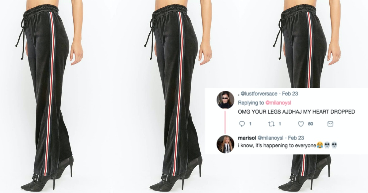 This Woman's Optical Illusion Track Pants Have Gone Viral & Twitter Is So Confused
