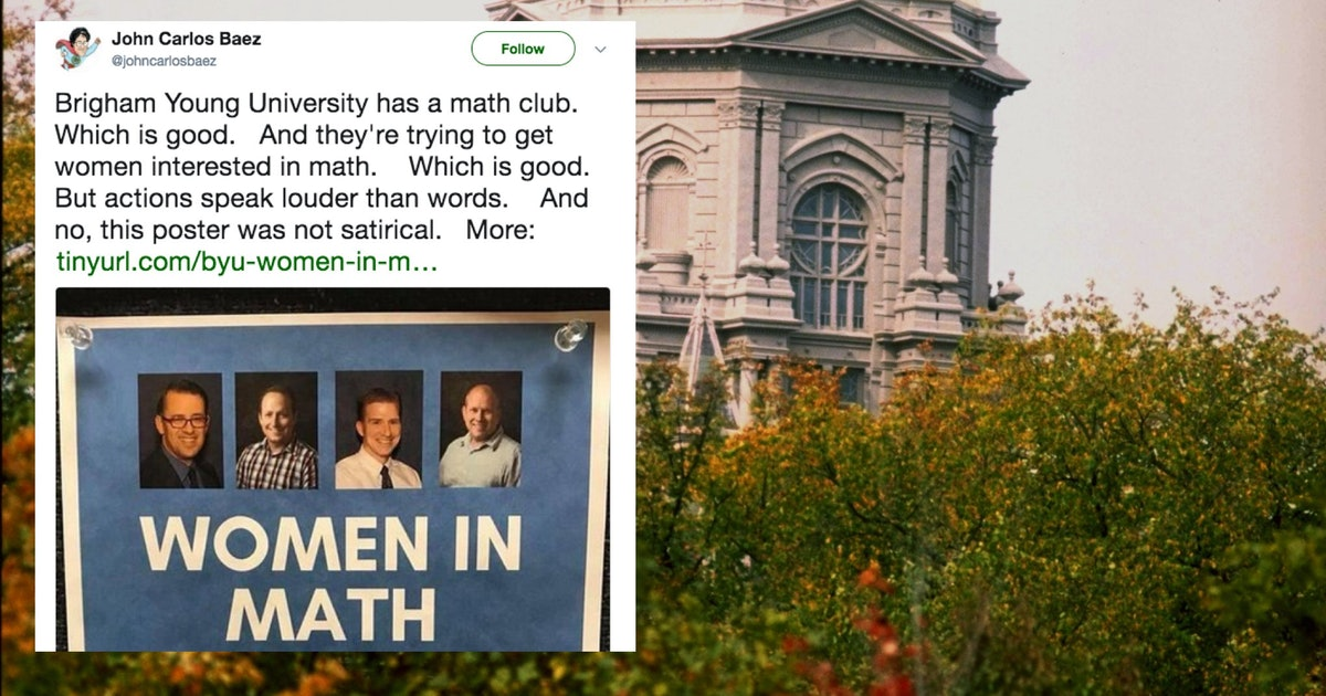 """This BYU """"Women In Math"""" Panel Flyer Was So Painfully Sexist, Students Thought It Was Satire"""