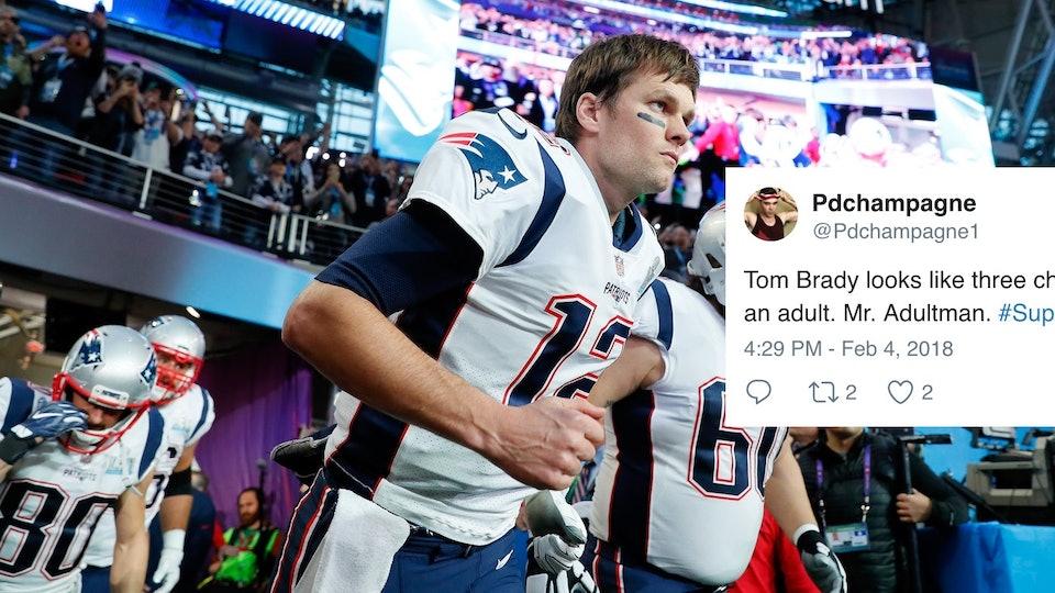 Tom Brady S Jacket At The Super Bowl Has Twitter Roasting Him It S