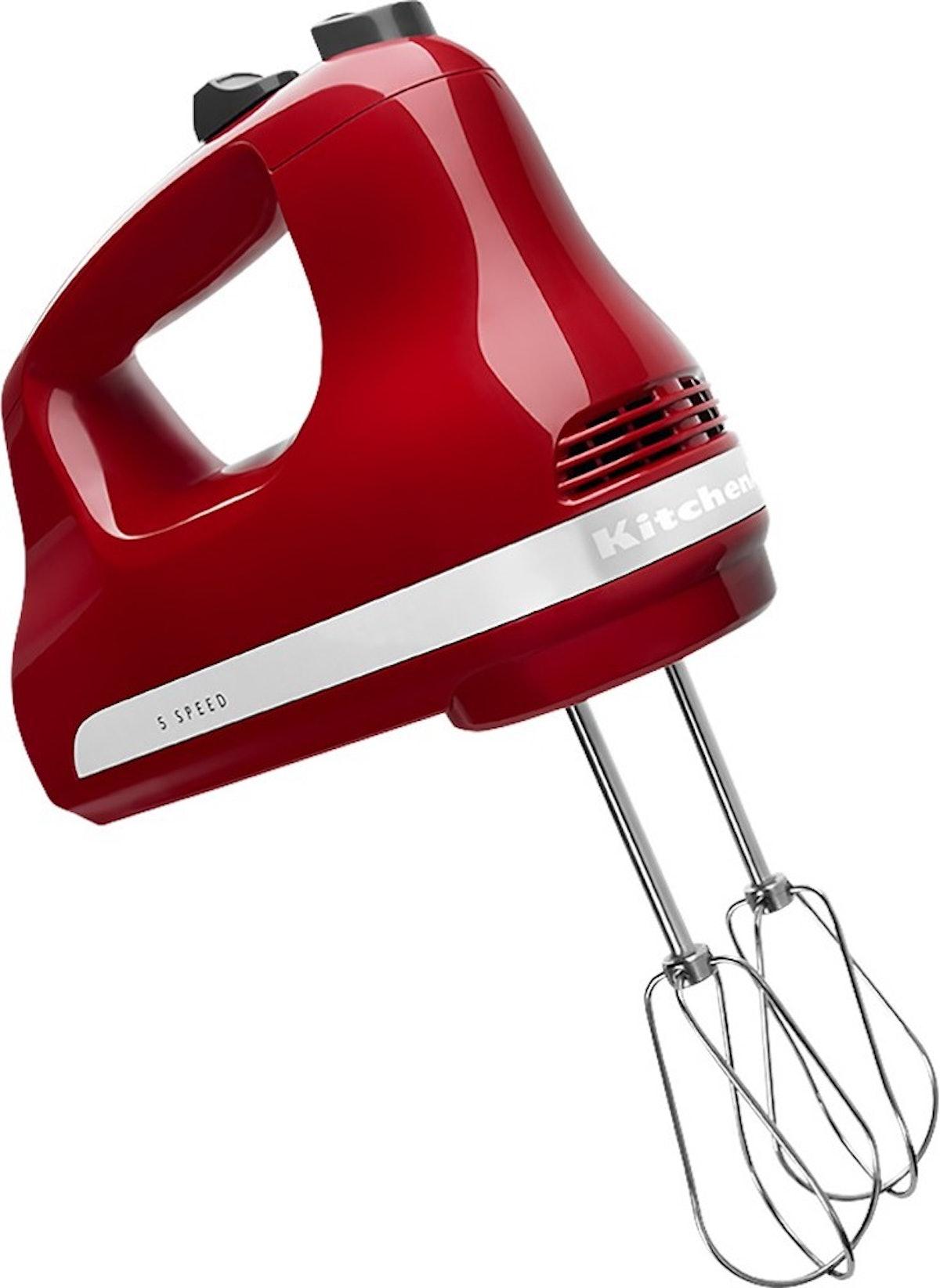 KitchenAid 5-Speed Hand Mixer in Empire Red