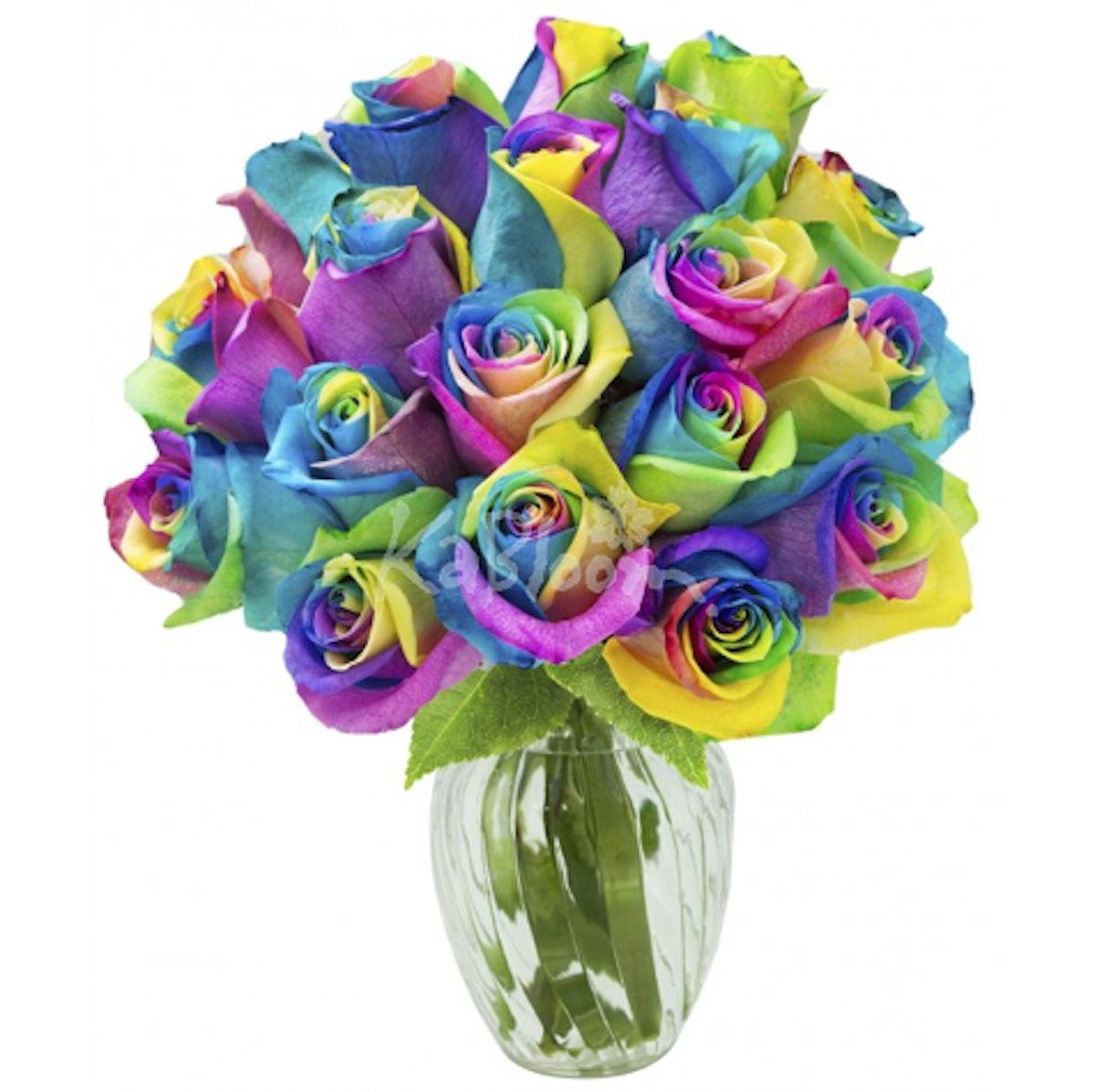 Rainbow Love Roses