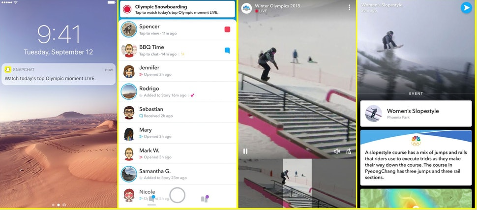 How To Stream The 2018 Winter Olympics On Snapchat Watch Key Moments From The Games Live