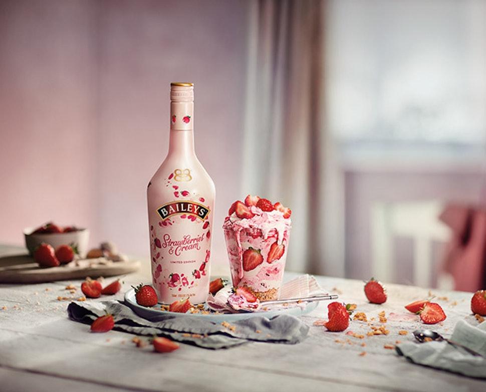 Strawberries Cream Baileys Is A Millennial Pink Daydream Just In
