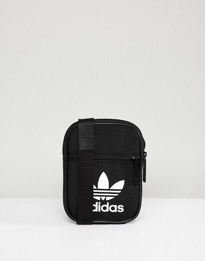 adidas Originals Festival Black Mini Multiway Bag With Trefoil Logo