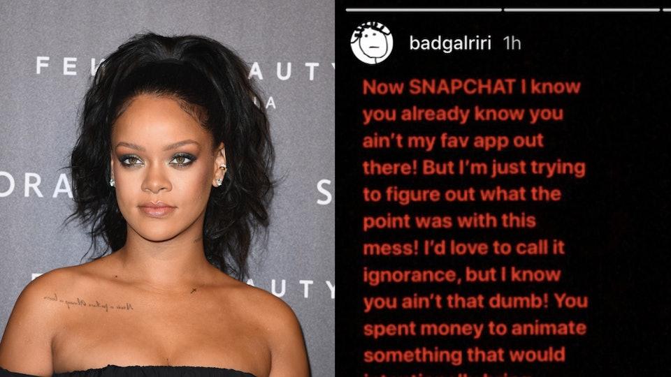 Rihanna Shut Down A Snapchat Ad Joking About Abuse & Stood