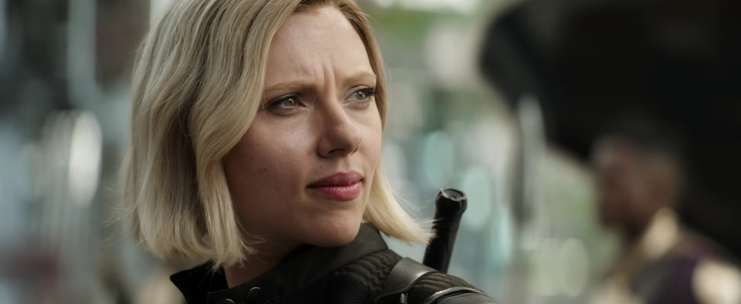 why black widow is blonde in 'avengers: infinity war,' according to