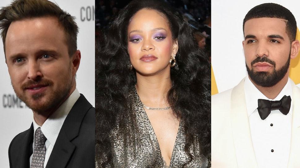 Aaron Paul Recalled Meeting Rihanna Drake Because The Musicians