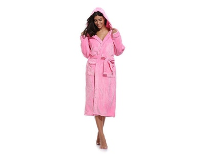 Luvrobes Plush Fleece Hooded Robe