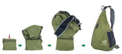 WATERFLY, Packable Shoulder Backpack Sling Chest