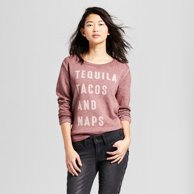 Women's Tequila Tacos, and Naps Graphic Sweatshirt