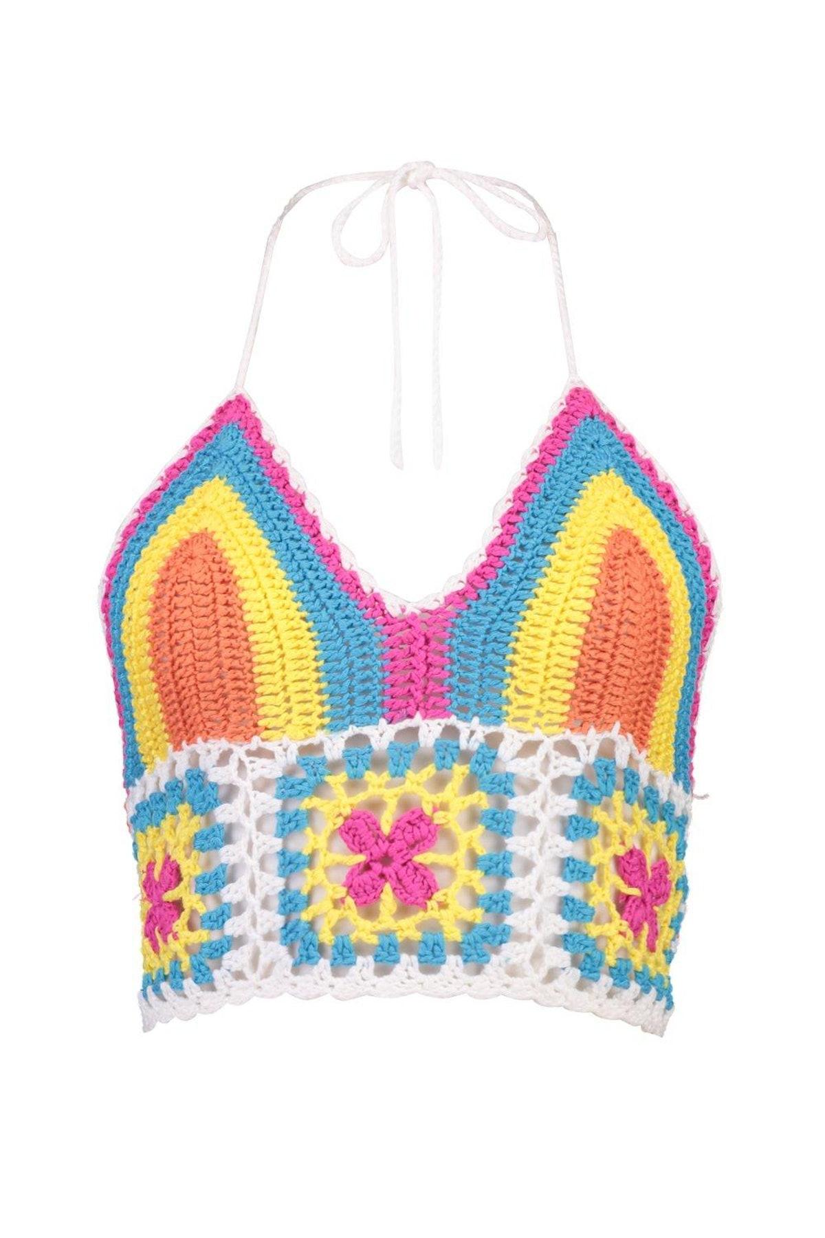 Harriet Rainbow Crochet Bralet