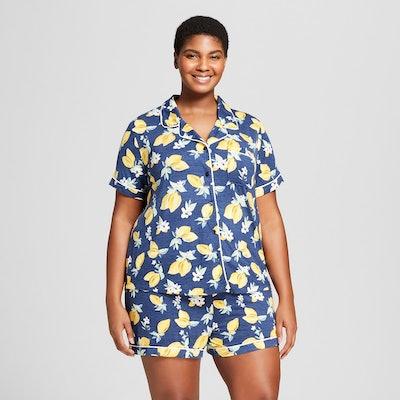 Gilligan & O'Malley Women's Plus Size Total Comfort Notch Collar Pajama Set