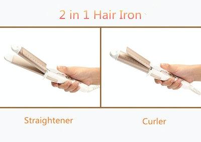 RIWA Travel Hair Straightener and Hair Curler
