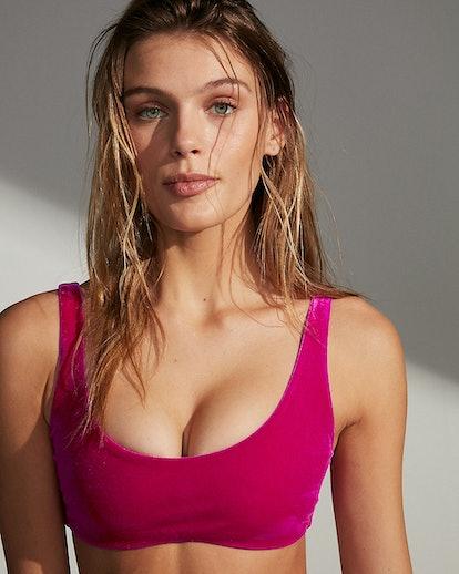 Velvet Scoop Bikini Top