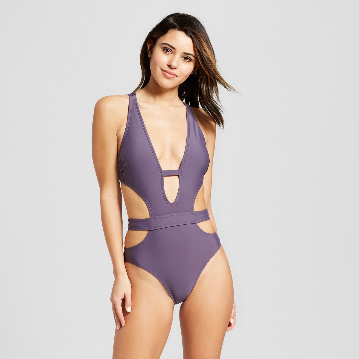 Women's Cut-Out Plunge One Piece