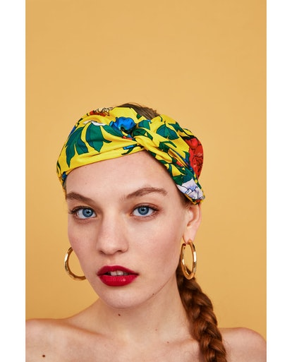 Floral Turban-Style Headband