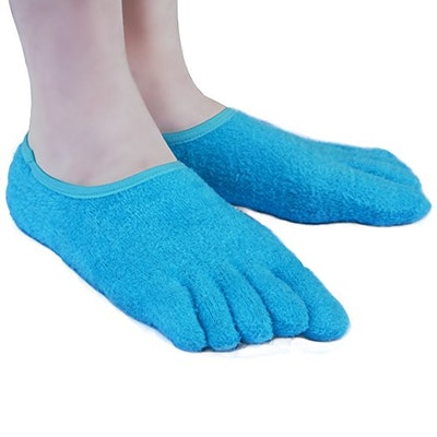 AYAOQIANG 5-Toe Moisturizing Gel Socks