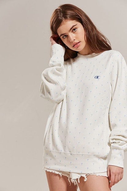 Champion + HVN for Urban Outfitters Palm Tree Crew-Neck Sweatshirt