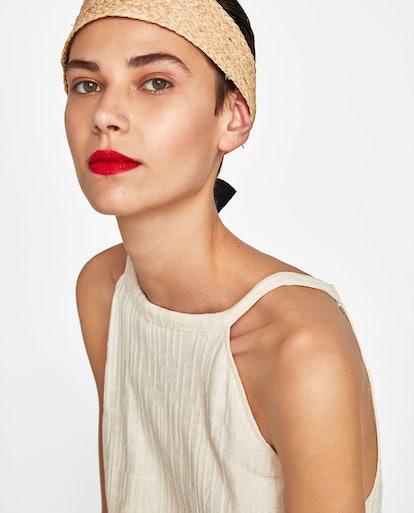 Raffia Headband With Ribbon