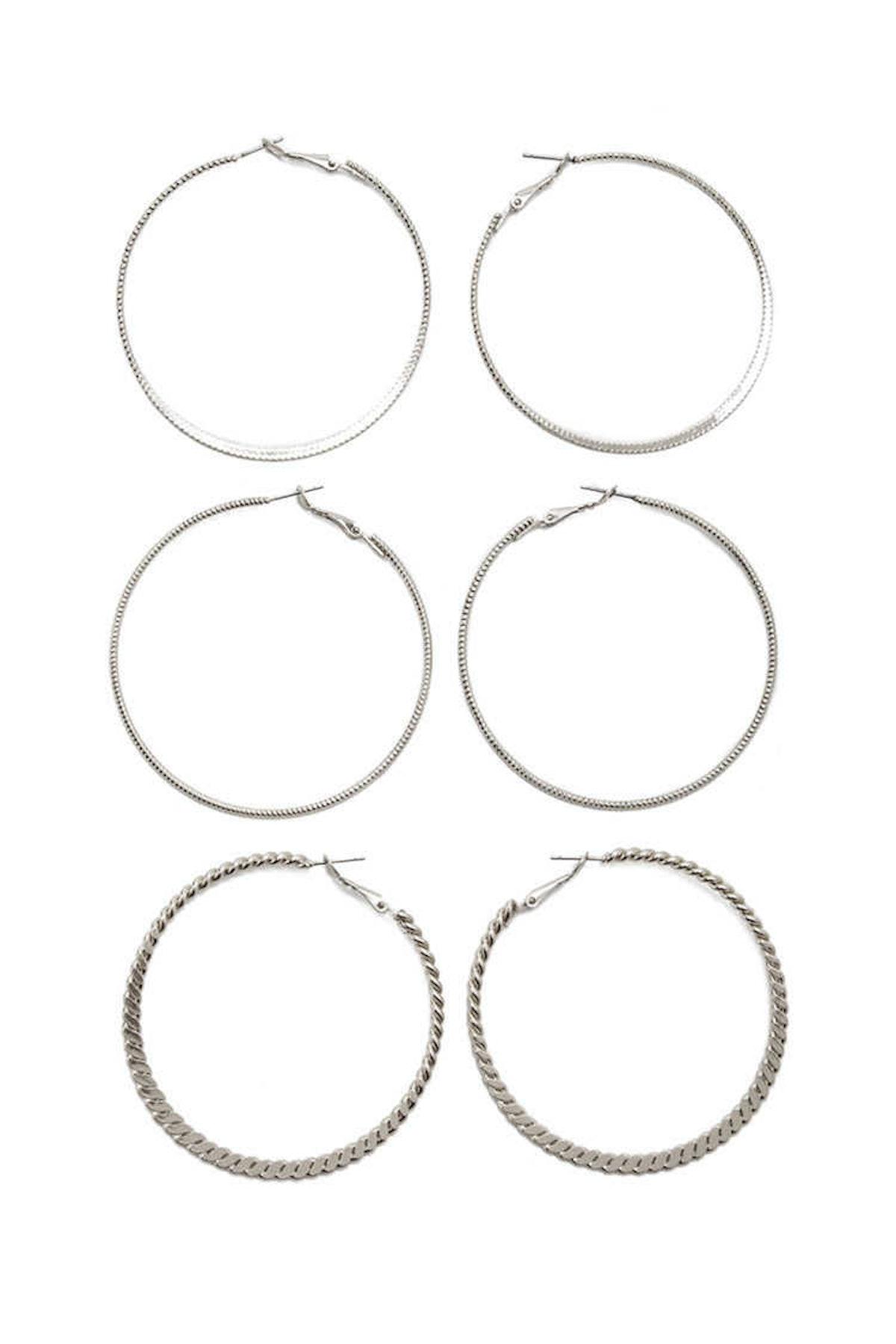 Twisted Hoop Earring Set