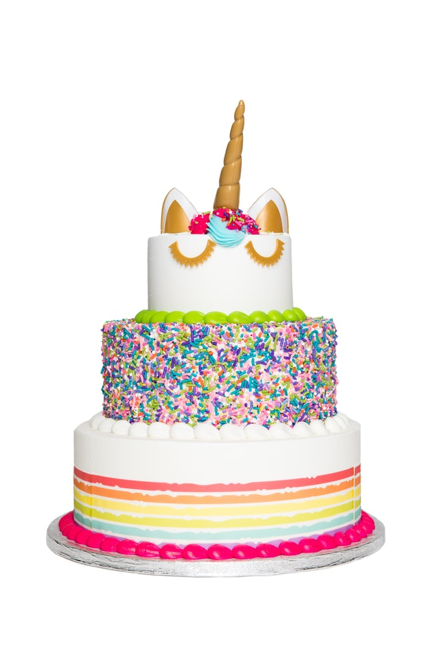 Surprising This 3 Tier Unicorn Cake At Sams Club Costs Less Than 70 Feeds Personalised Birthday Cards Paralily Jamesorg