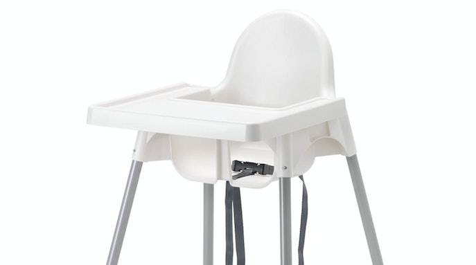 BABY HIGHCHAIR WITH SAFETY STRAPS IKEA ANTILOP BABY HIGH CHAIR WHITE PLASTIC