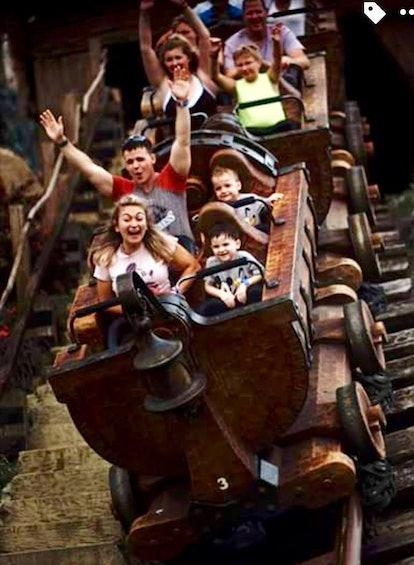The author on the Splash Mountain ride at Disney